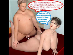3d comic:threatening cuckold wife receives bawdy with her boss on wacky ta