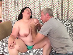 Sexual big beautiful woman is screwed up her taut dark hole