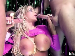 Outstanding danielle receives double permeated hard