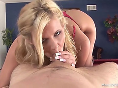 Hawt mother i'd like to fuck partner pov oral on pool table