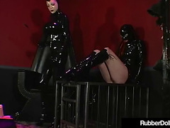 Latex sweetheart rubberdoll brings rubberella to screaming agonorgasmos!