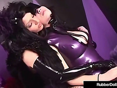 Slavery queen rubberdoll spanks sexy latex succubus untill pink
