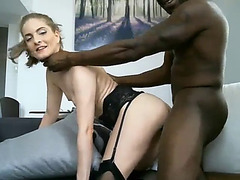 Blond acquire the darksome penis