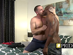 Sexually Excited homosexual hunks engulfing knob and banging butt for pleasure