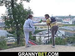 Stranger picks up and bonks old granny