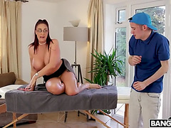Biggest stepmom emma booty chastise bonks her wussy stepson