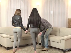 Daddy4k.menacing mom's 2 daughters getting wicked in her property