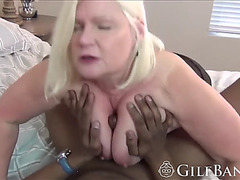 Extraordinary gilf devouring a monster bbc with tons of saliva