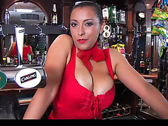 Danica collins makes an handsome barmaid
