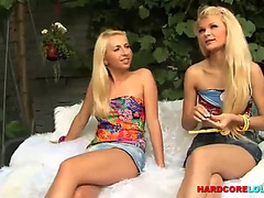 Legal Age Teenager lesbos set have outdoor enjoyment