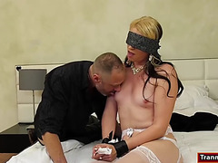 Blindfolded shelady chloe wilcox is facefucked and anal rides
