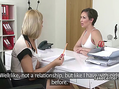 Lesbian Babes fuck in 69 pose on casting