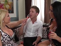 Fortunate chap fuck two sluts