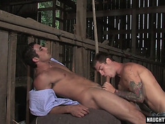 Large schlong homo anal sex and spunk flow