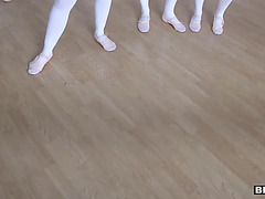 Ballerinas receive a recent stretching tool