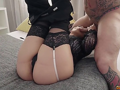 Pretty katrina moreno loves to ride a cock whilst this babe groans