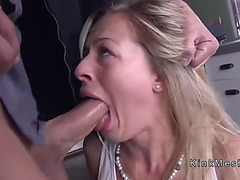 Sweat blond anal drilled in slavery