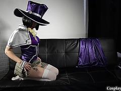 Sexy yukari sendo cosplay