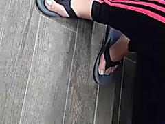 Candid oriental feet