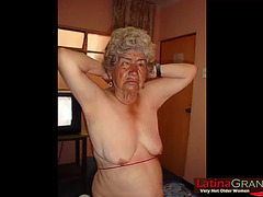 Latinagranny non-professional pics showing old nudes