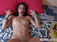 Great servitude enjoyment with the hawt brunette hair bailey bam