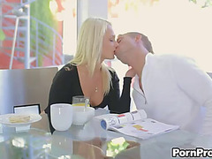 Pleasing blowjobs and hardcore sex in erotic movie scene with blond ivana sugar