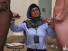 Large arab bumpers and thick darksome jock