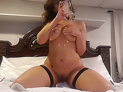 Hot latin chick and her dildos