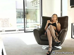 Lustful mother i'd like to fuck wife jills her slit previous to her dude copulates her