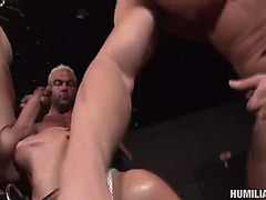 A large load of cum for the powerless jennifer black in a thraldom video