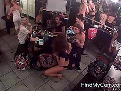 Disrobe club dressing room camera