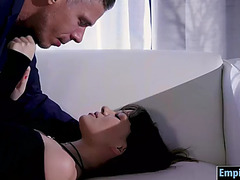 Glamour chick alison rey receives drilled hard on the ottoman
