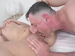 Jasmine spice acquires her hairless muff pounded by a hard jock