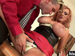 Breasty wife receives drilled in hardcore fashion
