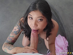 Brenna sparks was nearly caught by her hubby when that babe was engulfing penis