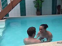 Hunt4k.menacing sex adventures in intimate swimming pool