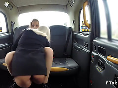 Biggest billibongs blondes in 3some fake taxi