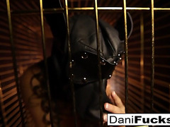 Dani daniels a trapped doxy inside a dog cage