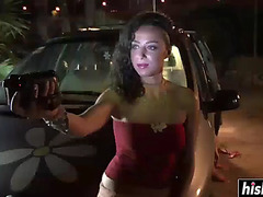 Naghty doxy nailed in her car