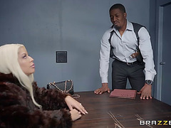 Hung darksome detective assfucking a blond bombshell