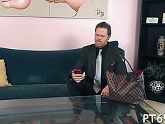 Pink slit receives drilled hardcore