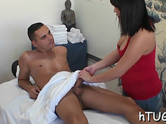 Girl acquires payed to rub him off