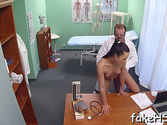 Delightful doctor is getting drilled