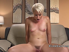 Solo blond mother i'd like to fuck bonks fast machine