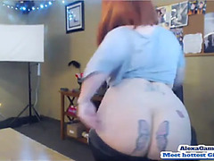 Breasty pawg-menacing redhead &fearsome old hd porn clip 59
