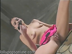 Nasty tiny titted dark brown acquires screwed in her snatch and chocolate hole