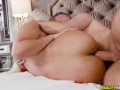 Bridgette b getting fucked into ass lying on her side