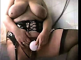 Porn Tube of Mature With Big Saggy Tits In Shower