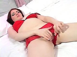 Porno Video of Hot Body Redhead Solo