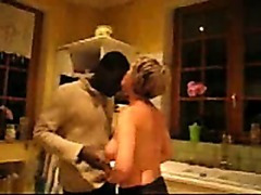 Mature Wife With Two Black After Dinner